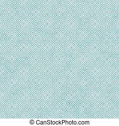 teal, og, hvid, firkantet, geometriske, gentage, mønster,...