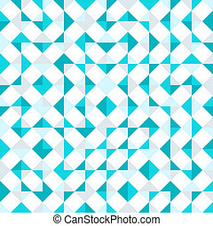 Teal repeat triangle background with abstract geometric seamless textured pattern