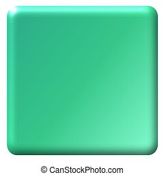 Teal Square Button