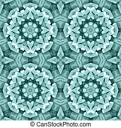 Teal triangle mosaic detailed seamless textured pattern background