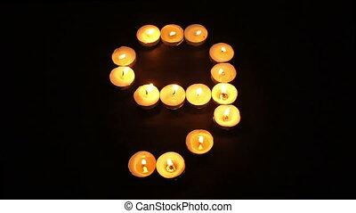 Tealight Candle Number Nine