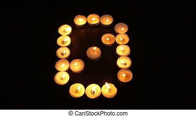 Tealight Candle Number Zero
