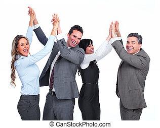 team., счастливый, бизнес, люди