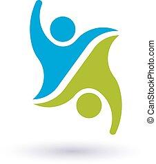 Team 2 friends logo