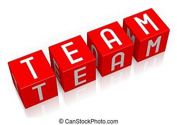 Team - 3D cube word