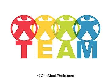 Team, abstract illustration