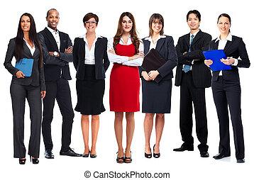 team., affärsfolk
