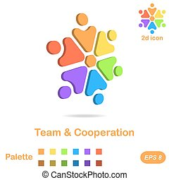 Team and cooperation logo concept