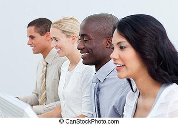 team, anders, presentatie, zakelijk, werken