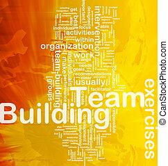 Background concept wordcloud illustration of team building international
