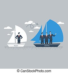 Team building, business management - Business consolidation...