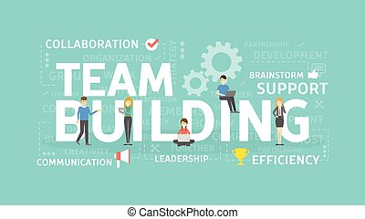 Team building concept illustration. Idea of group, team and ...