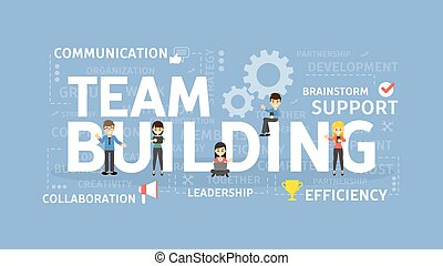 Team building concept illustration. Idea of group, team and...