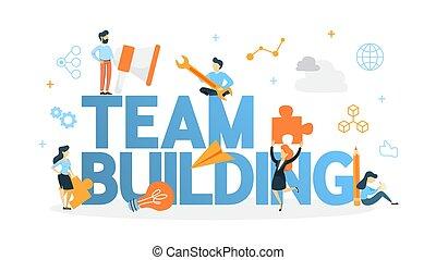 Team building concept illustration - Team building concept. ...