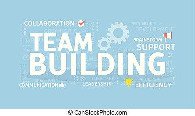 Team building concept. - Team building concept illustration...
