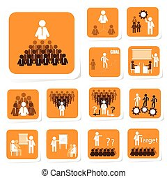 Team Building Icon - Illustration of team building icon for...
