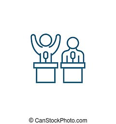 Team building linear icon concept. Team building line vector sign, symbol, illustration.