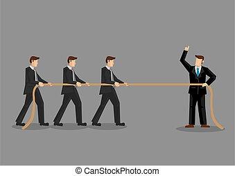 Team Building Organizational Training Vector Illustration - ...