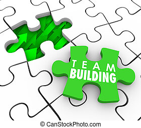 Team Building Puzzle Piece Hire Recruit New Employees Interactio