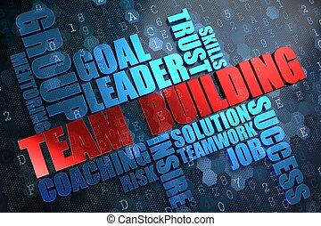 Team Building. Wordcloud Concept.