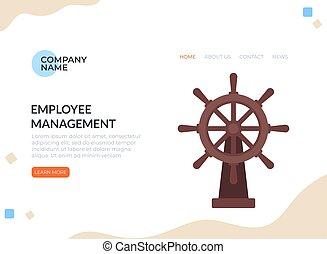 Team business leadership management concept. Vector graphic design flat cartoon illustration