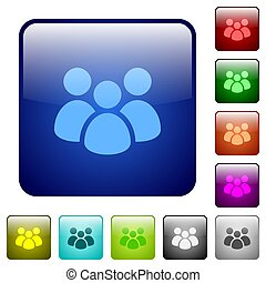 Team color square buttons