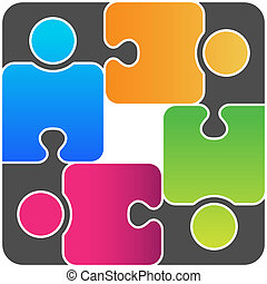 Team Connected - Team like puzzle connected
