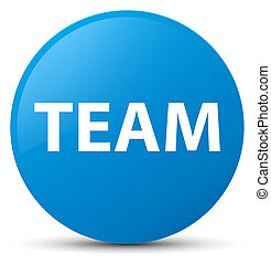 Team cyan blue round button