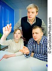 Team discussing ideas