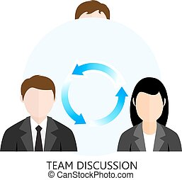 Team Discussion Icon Flat design Concept