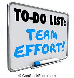 Team Effort To Do List Dry Erase Board