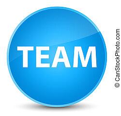Team elegant cyan blue round button