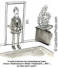 "Team Evaluation - ""I need a formula for evaluating my team. ..."