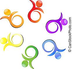 Team flower multicolor