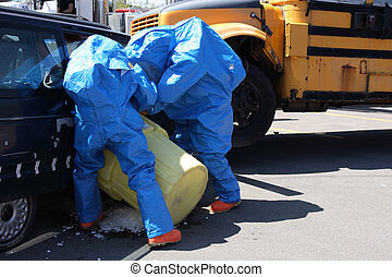Team for Hazard Materials Processing Unknown substance after...