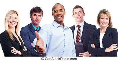 team., geschäftsmenschen