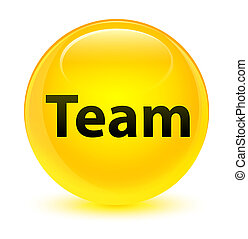 Team glassy yellow round button