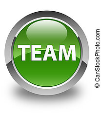 Team glossy soft green round button