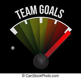 Team goals meter sign concept illustration design graphic