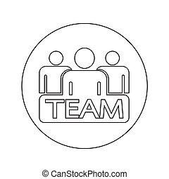 team icon illustration design