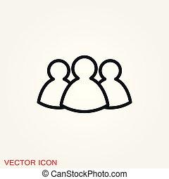 Team icon vector sign symbol for design