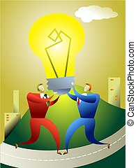 team idea - business concept illustration