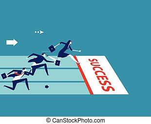 team., illustration., concept affaires, concurrence, vecteur