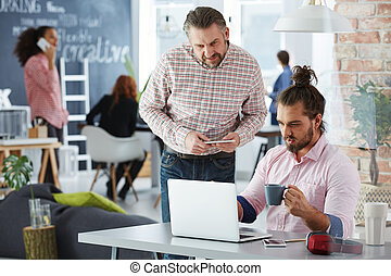 Team in coworking office