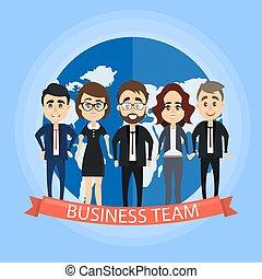 team., isolé, business