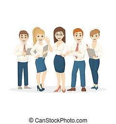 team., isolato, affari