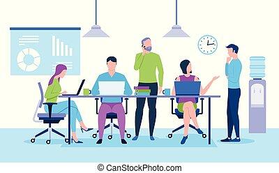 team., lavoro, ufficio