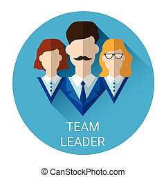 Team Leader Business Management Icon