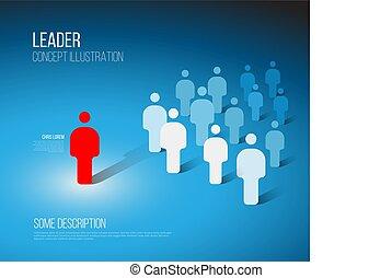 Team leader concept illustration