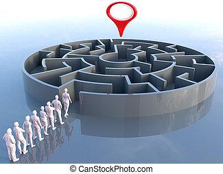 Team leader finds problem solution maze